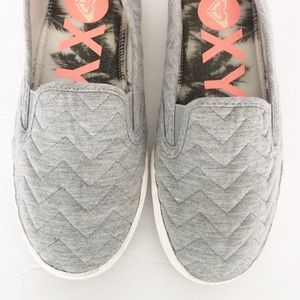 Roxy | Quilted Chevron Slip On Sneaker Grey